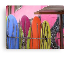 Surfboard fence. Canvas Print