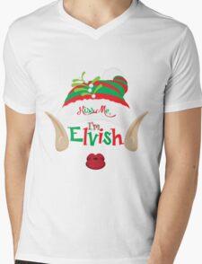 Kiss Me, I'm Elvish Mens V-Neck T-Shirt