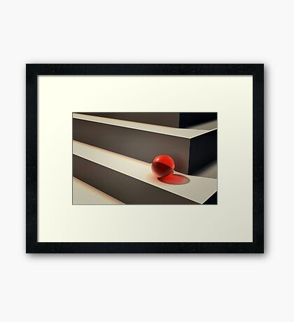 On Edge Framed Print