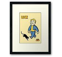 Fallout Luck Framed Print