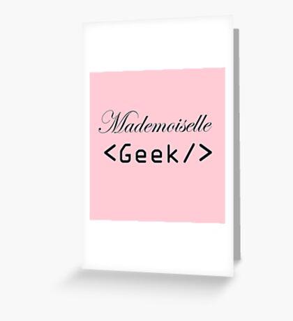 mademoiselle geek Greeting Card