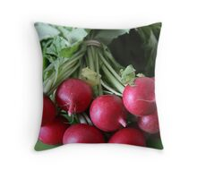 Fresh from the Farmers' Market (Radishes) Throw Pillow