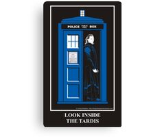 Look Inside the TARDIS Canvas Print