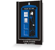 Look Inside the TARDIS Greeting Card