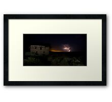Storm Clouds at Guadalupe Ghost Town Framed Print