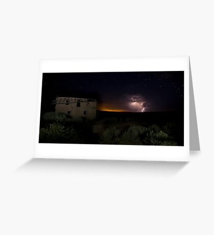 Storm Clouds at Guadalupe Ghost Town Greeting Card