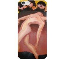 Art Deco Motion Study Of A Nude Woman iPhone Case/Skin