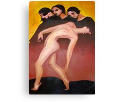 Art Deco Motion Study Of A Nude Woman Canvas Print