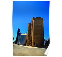 Wheat Silos At Elmore Poster