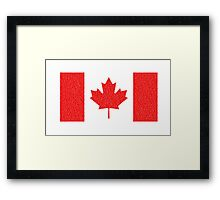 Canadian flag 2 Framed Print