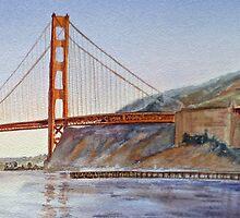Golden Gate Bridge San Francisco California by Irina Sztukowski