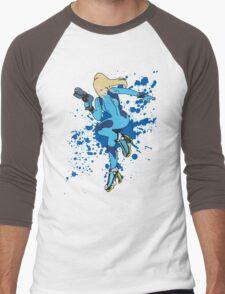 Zero Suit Samus - Super Smash Bros Men's Baseball ¾ T-Shirt