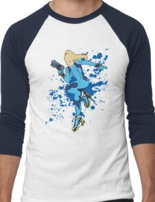 Zero Suit Samus - Super Smash Bros Men's Baseball ¾ T-Shirt