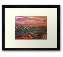 Morning Hills Framed Print