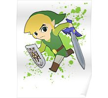 Toon Link - Super Smash Bros Poster