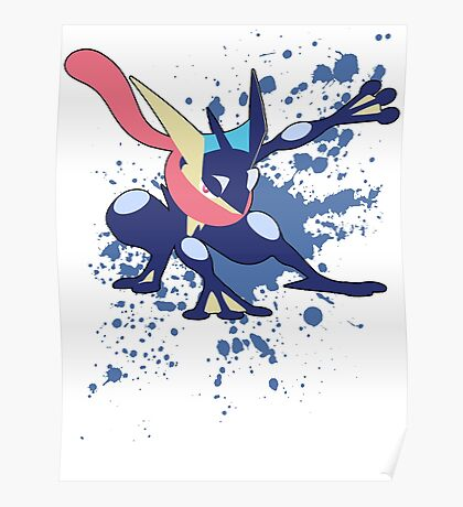Greninja - Super Smash Bros Poster