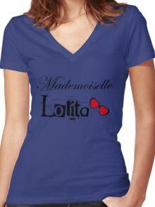 mademoiselle lolita Women's Fitted V-Neck T-Shirt