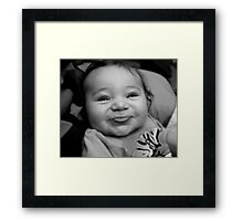 Silly Baby Framed Print