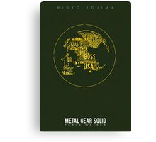 Metal Gear Solid: Peace Walker Canvas Print