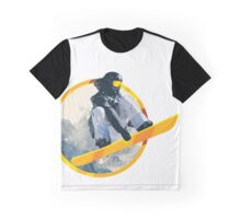 Snow Board Jump Graphic T-Shirt