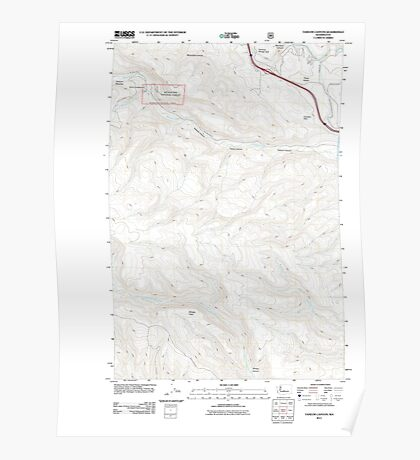 USGS Topo Map Washington State WA Taneum Canyon 20110601 TM Poster