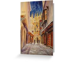 WINTER EVENING CANTERBURY Greeting Card
