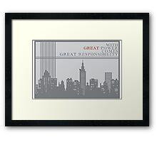 Spider-man New York Skyline Quote Framed Print