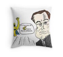 Mario DRAGHI en caricature avec Euroman Throw Pillow