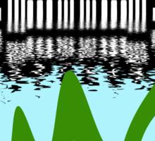 Loch Ness Monster on holiday in Amsterdam Sticker