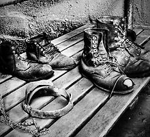 Coal Miners Working Boots b/w version by franceshelen