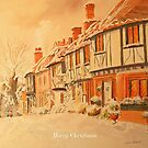 Merry Christmas in Chilham, Kent by Beatrice Cloake