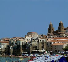View on the Cathedral, Cefalu by Janone