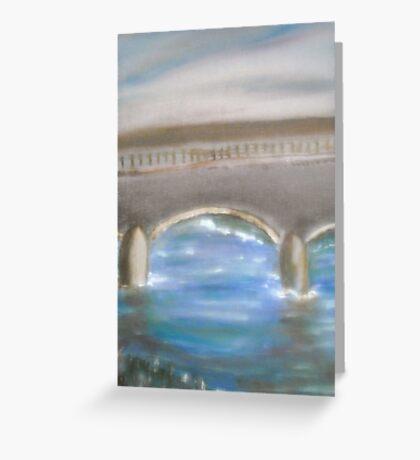 Pavia Covered Bridge - En Plein Air Painting Greeting Card