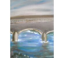 Pavia Covered Bridge - En Plein Air Painting Photographic Print