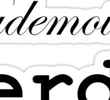 mademoiselle nerd Sticker
