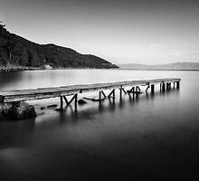 Alone pier by Özkan Konu