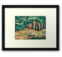 Tree and Wall Framed Print
