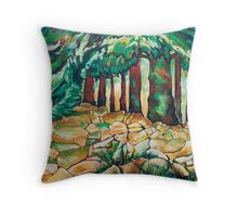 Tree and Wall Throw Pillow