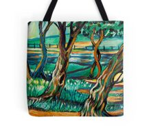 Park View In Blue Tote Bag