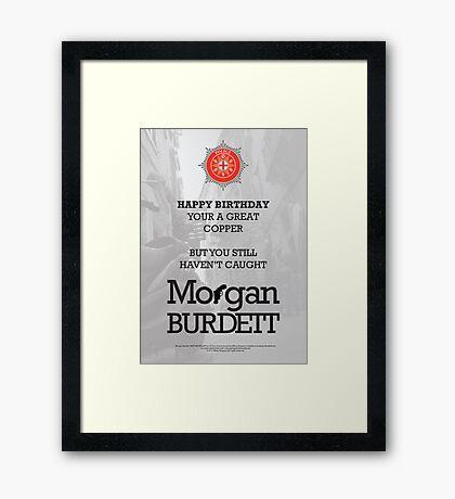 Morgan Burdett Copper Birthday Card Framed Print