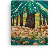 Large Tree, and Wall Canvas Print