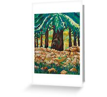 Large Tree, and Wall Greeting Card