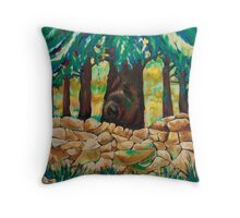 Large Tree, and Wall Throw Pillow