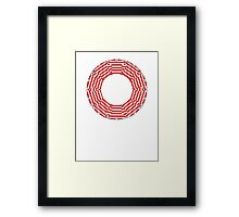 ring-o-t-shirts red and white  Framed Print