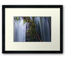 Silken Fall - Nant Rhyd-Wen, Llangower Framed Print