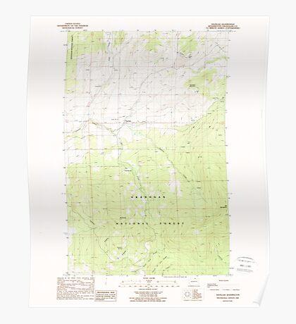 USGS Topo Map Washington State WA Havillah 241506 1988 24000 Poster