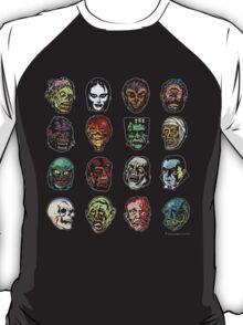 Horror Movie Monster Masks (color) T-Shirt