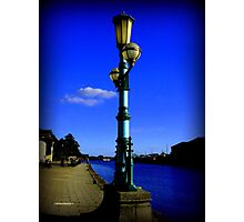 GREEN LAMP ON EXETER QUAY Photographic Print