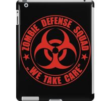 Zombie Defense Squad - we take care iPad Case/Skin