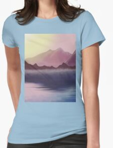 morning lake Womens Fitted T-Shirt